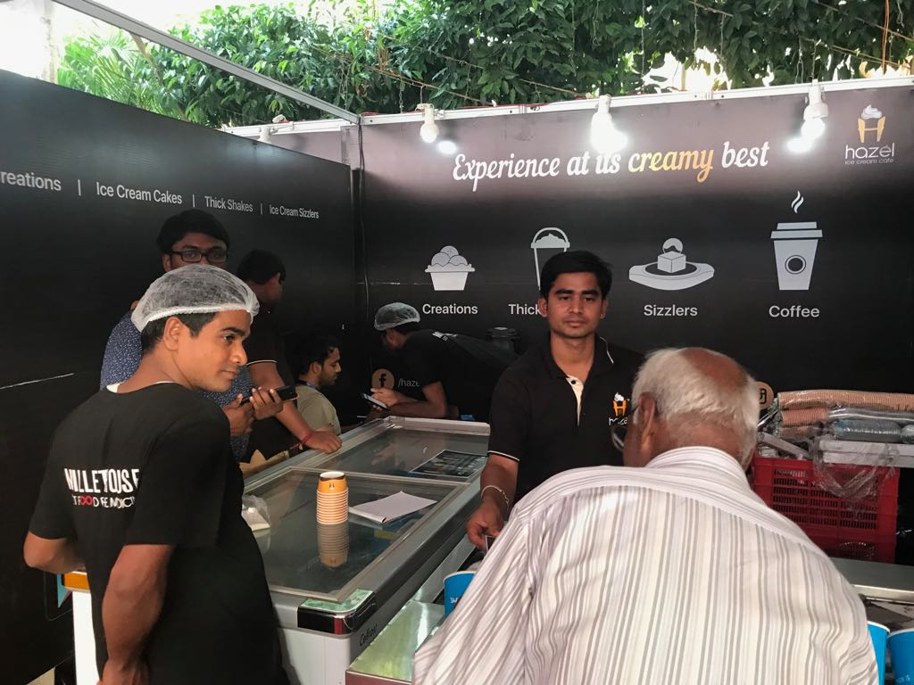 Hazel Ice Cream Cafe exhibition stall at FTAPCCI Food Industry Conclave held at Vijayawada on Jan 4 - 6, 2018 ( (2)
